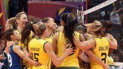 INVICTAS! Meninas do vôlei batem EUA pro 3 sets a 0 e lideram Grand