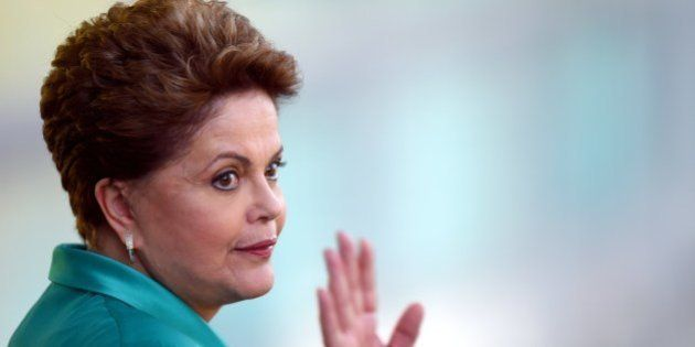 Brazil's President Dilma Rousseff, candidate of the Workers' Party (PT) for October's presidential election,...