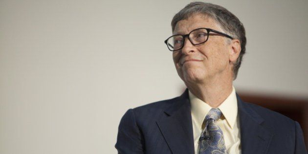 US businessman, inventor and philanthropist Bill Gates, co-chair of Bill and Melinda Gates Foundation,...