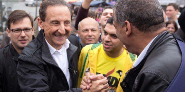 Candidato ao governo de São Paulo, Paulo Skaf usa