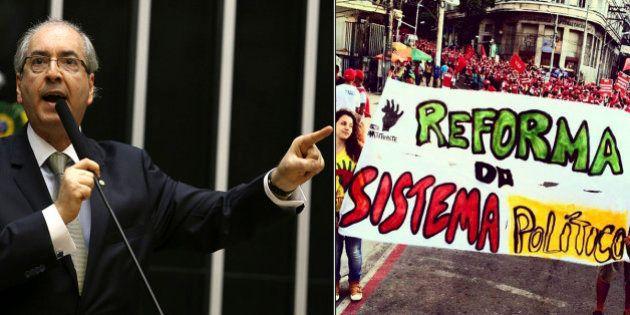 Eduardo Cunha (PMDB) diz que criminalizar financiamento privado de campanha é um