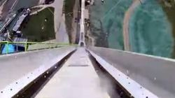 ASSISTA: 40 segundos de diversão/terror no (novo) tobogã mais alto do
