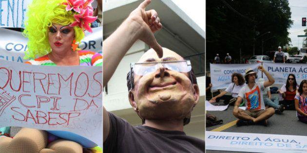 #BanhoNaCasaDoAlckmin: Grupo protesta e pede transparência ao governo de São