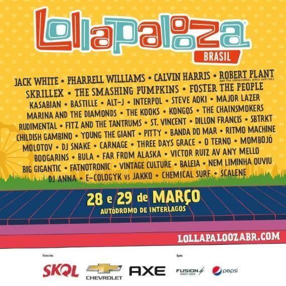 Lollapalooza Brasil 2015: veja line-up completo do
