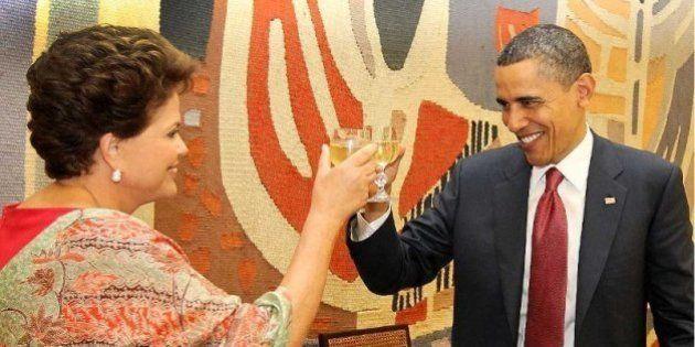 Presidentes Dilma e Obama, em brinde no Palácio Itamaraty. Foto: Roberto Stuckert