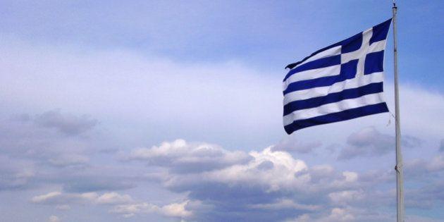 Greek flag on the