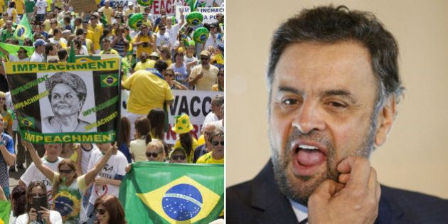 Aécio não participa de manifestação, mas divulga nota de apoio nas redes