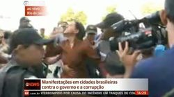 Manifestantes hostilizam defensores do governo e petistas reagem no