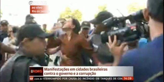 Manifestantes hostilizam defensores do governo e petistas reagem nas redes