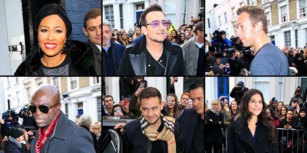 Bono Vox, Chris Martin, Seal e outros artistas se reúnem para gravar canção de combate ao