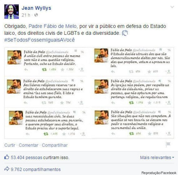 Padre paulista já foi excomungado em 2014 por defender a mesma posição de Fábio de Melo sobre o casamento...