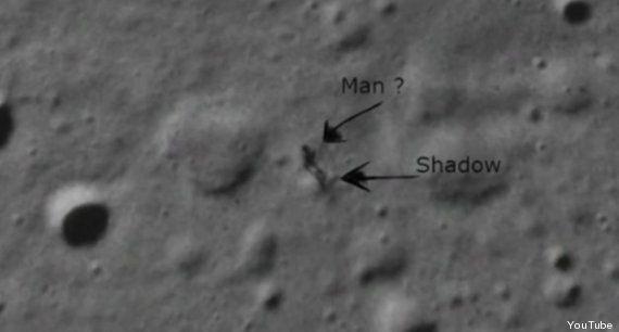 A NASA fotografou um ET e sua sombra na Lua?