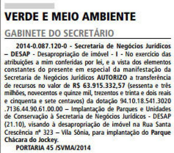 Parque Chácara do Jockey: moradores discutem projeto para nova área verde de SP nesta sexta-feira