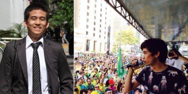 Marcha pela Liberdade: Kim Kataguiri, do Movimento Brasil Livre, convoca marcha dos descontentes até