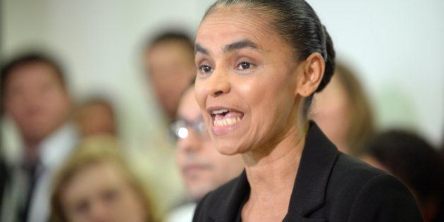 Former senator Marina Silva speaks during a press conference in Brasilia on October 4, 2013. The Superior...