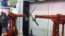 Incrível! Vídeo mostra máquinas 'duelando' com