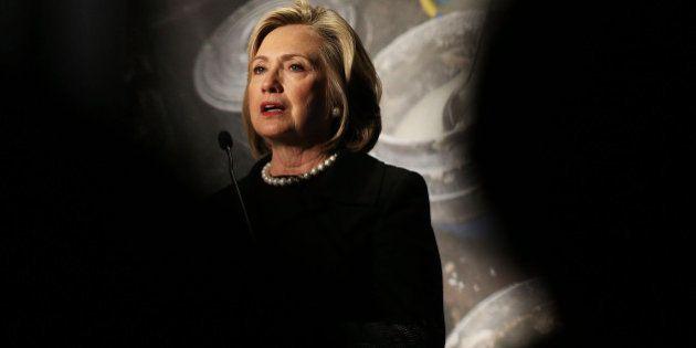 NEW YORK, NY - NOVEMBER 21: Hillary Rodham Clinton speaks at the Cookstoves Future Summit on November...