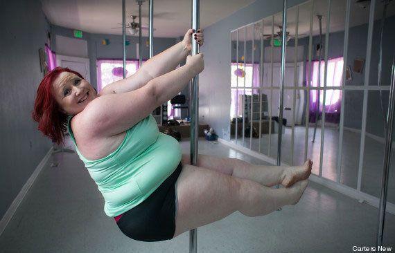 Lulu, a 'pole dancer' plus-size, tem uma mensagem inspiradora de amor ao corpo para