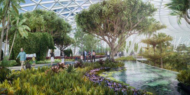 Imagens do novo aeroporto de Cingapura
