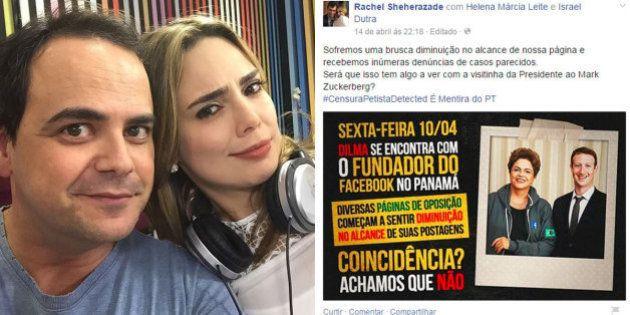 'Esculachada' no Pânico, Rachel Sheherazade culpa encontro de Dilma com Mark Zuckerberg por queda de...