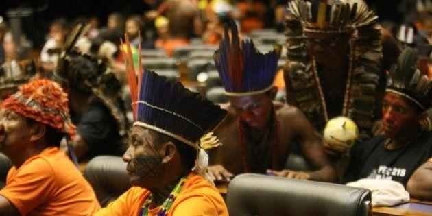 Na Câmara, funcionários passam álcool em cadeiras usadas por índios no