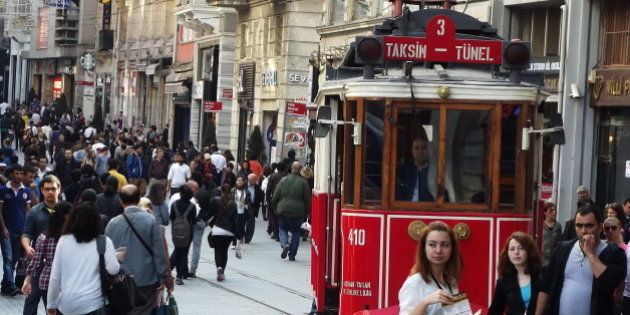 The street is very popular in Taksim of Istanbul and no cars traffic there but much traffic by peoples:-)Very...
