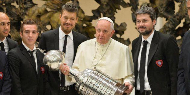 San Lorenzo visita papa após título da