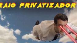 ASSISTA: Candidato a deputado apresenta o seu 'raio privatizador' ao