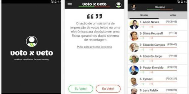 Voto x Veto: 'Tinder das eleições' aponta candidatos com que usuários têm maior