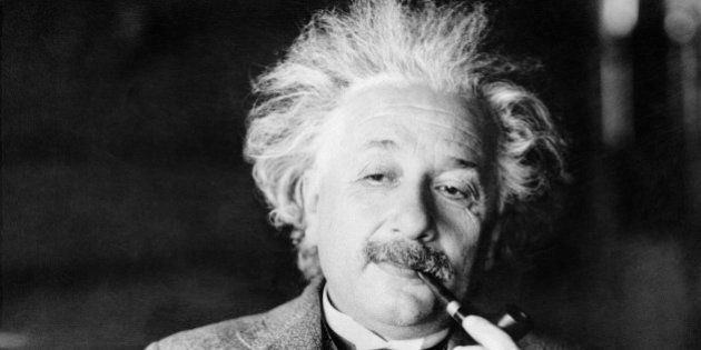 This undated file photo shows the famed German borne physicist Prof. Dr. Albert Einstein, author of the...