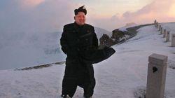 No topo: ditador da Coreia do Norte 'escala' o monte mais alto do país