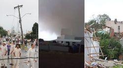 ASSISTA: Tornado deixa rastro de destruição em Xanxerê