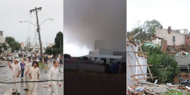 Tornado destrói cidade catarinense de Xanxerê, deixa pelo menos dois mortos e mais de 1 mil desabrigados