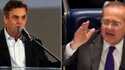 Aécio X Renan: Veja como foi a 1ª briga entre governo e oposição do 'novo'