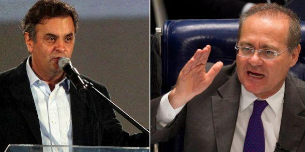 Com gritaria e troca de farpas, Aécio Neves e Renan Calheiros protagonizam primeira briga no 'novo'