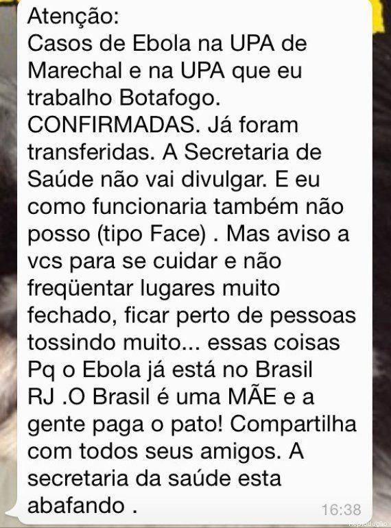 Boatos de casos de Ebola no Maranhão e no Rio de Janeiro são falsos, diz Ministério da