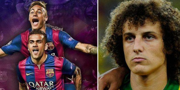 Neymar detona e David Luiz derrapa em Barça vs