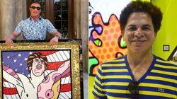 Stallone ganhou um retrato de Romero Britto e gostou. Os zoeiros da web