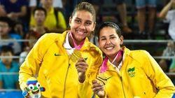 Dupla brasileira é ouro no vôlei de praia feminino nos Jogos da