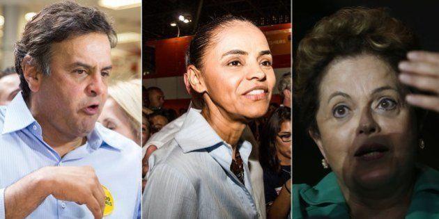 Ibope: Furacão Marina Silva provoca efeito devastador nas candidaturas de Aécio Neves e Dilma