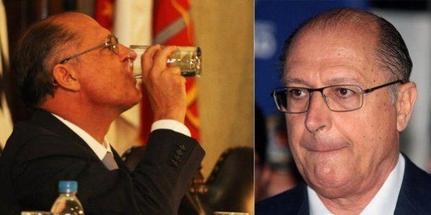 Popularidade de Geraldo Alckmin cai de 48% para 38% por causa do racionamento de água em São Paulo e...
