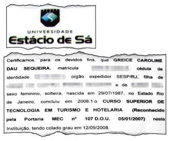 Após perder indicação de R$ 8 mil no TRE-RJ, modelo e estagiária Greice Sequeira mostra