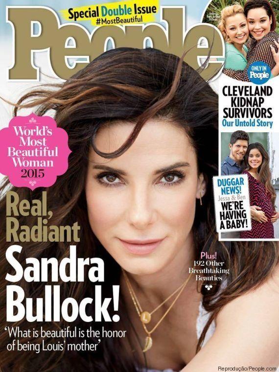 Sandra Bullock, aos 50 anos, é eleita mulher mais bonita em ranking da revista