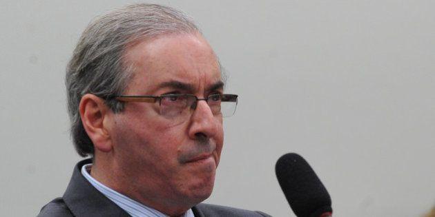 O presidente da Câmara dos Deputados, Eduardo Cunha, fala na sessão da Comissão Parlamentar de Inquérito...