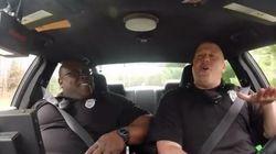 ASSISTA: Câmera 'flagra' policiais cantando (e dançando) músicas pop no