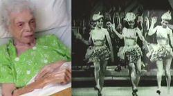 ASSISTA: Mulher de 102 anos se emociona ao ver a si mesma dançando quando