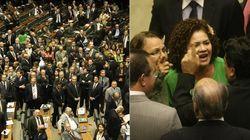 Tensão política sobe, e votação é suspensa por tumulto no