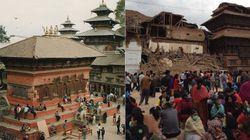 Antes e depois: Praça histórica fica destruída após terremoto no