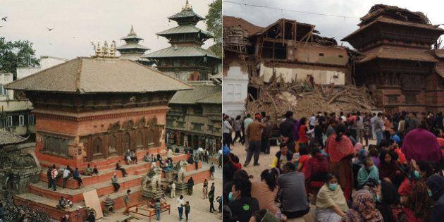 Praça localizada em patrimônio Mundial da Unesco fica destruída após terremoto no