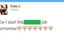 Ela foi demitida pelo Twitter antes de começar a trabalhar, mas não tá nem
